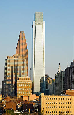 Built Structure Photograph - Buildings In A City, Comcast Center by Panoramic Images
