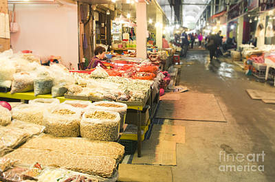 Bujeon Market In Busan Print by Tuimages