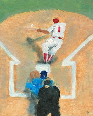 Baseball Painting - Bunting Wiz by Jorge Delara