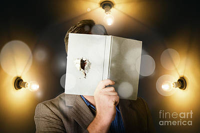 Business Man Spying And Tracking Market Research Print by Jorgo Photography - Wall Art Gallery