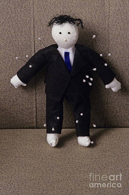 Voodoo Doll Photograph - Businessman Voodoo Doll by Jim Corwin