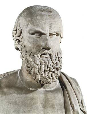 Statue Portrait Photograph - Bust Of Aeschylus. 5th C. Bc. Greek by Everett