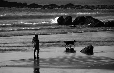 Dog At Beach Photograph - By The Seaside by Aidan Moran