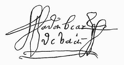 Autograph Painting - Cabeza De Vaca (c1490-c1557) by Granger
