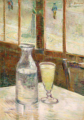 Cafe Table With Absinth  Print by Mountain Dreams