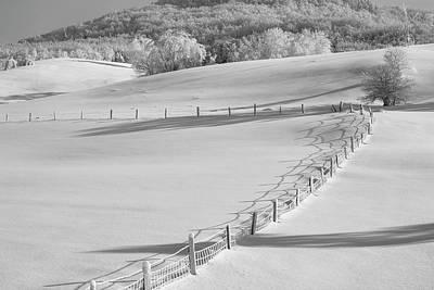 Canadian Winter  Ville De Lac Brome Print by David Chapman