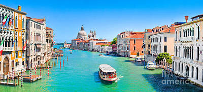 Italy Photograph - Canal Grande In Venice by JR Photography