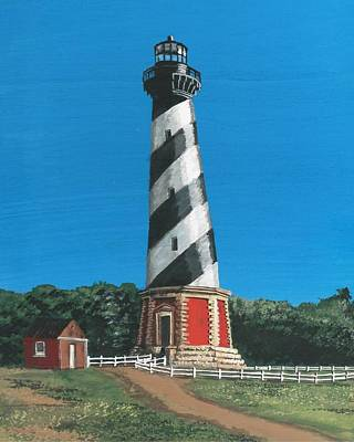Painting - Cape Hatteras Lighthouse by Stephany Elsworth