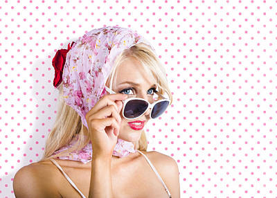 Captivating Woman Looking At Fashion Copyspace Print by Jorgo Photography - Wall Art Gallery