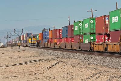 Cargo Container Trains Print by Jim West