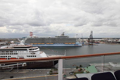 Caribbean Cruise - On Board Ship - 121214 Print by DC Photographer