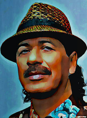 Carlos Santana Original by  Fli Art