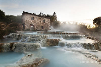 Tuscany Photograph - Cascate Del Mulino by Wolfgang Steiner