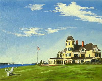 Sand Castles Painting - Castle Hill Inn Newport Rhode Island by Christine Hopkins