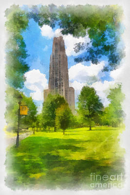 Cathedral Of Learning University Of Pittsburgh Print by Amy Cicconi
