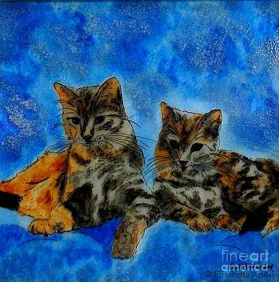 Elisabetta Artusi Painting - Cats by Betta Artusi