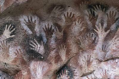Cave Of The Hands. Argentina. Santa Print by Everett