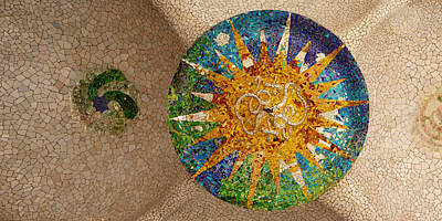 Mosaic Photograph - Ceiling Detail Of The Hall Of Columns by Panoramic Images