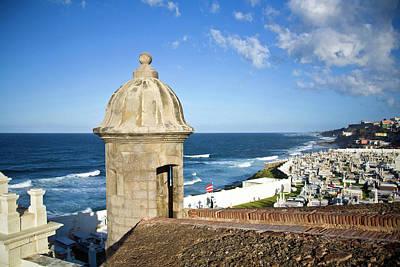 El Morro Photograph - Cemetery And La Perla From El Morro by Miva Stock