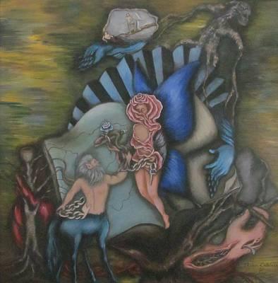 Centaur Rose Original by Blanca  Calderon