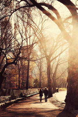 Central Park Afternoon Print by Emmanouil Klimis