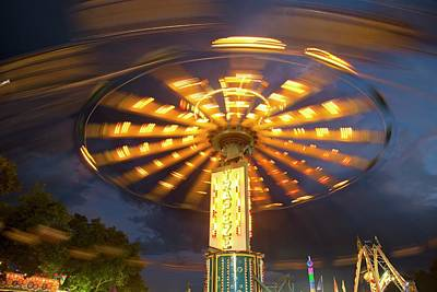 Chair Swing Fairground Ride Print by Jim West