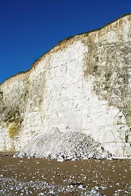 Calcium Photograph - Chalk Cliffs by Carlos Dominguez