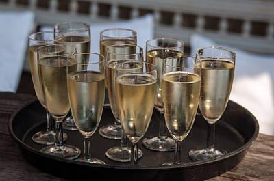 Champagne Flutes Print by Frank Gaertner