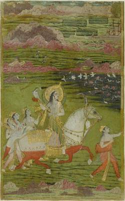 Jihad Painting - Chand Bibi Hawking by Celestial Images