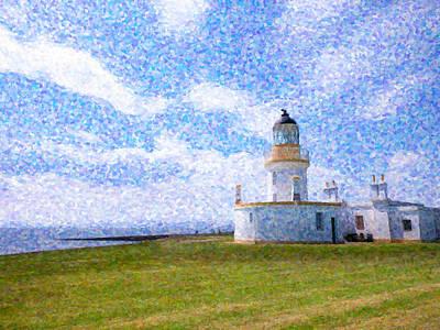 Cloudscape Digital Art - Chanonry Point Lighthouse by Hakon Soreide