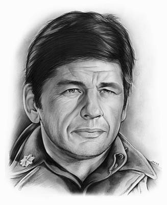 Tough Drawing - Charles Bronson by Greg Joens