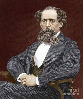 Charles Dickens, British Author Print by Sheila Terry