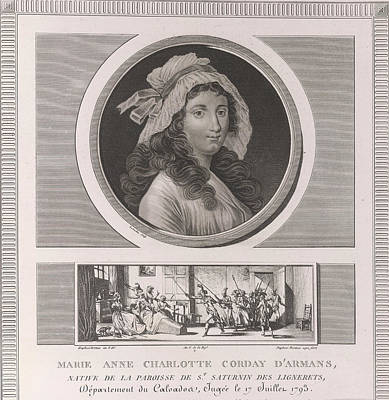 Charlotte Corday Print by British Library