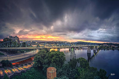 Chattanooga Sunset 4 Print by Steven Llorca