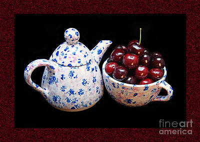 Andee Fine Art And Digital Design Photograph - Cherries Invited To Tea 2 by Andee Design