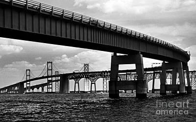 Chesapeake Bay Bridge  Print by Skip Willits