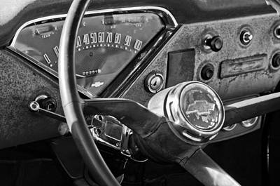 Chevrolet Steering Wheel Emblem Print by Jill Reger