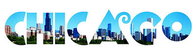 Landscape Painting - Chicago  by Celestial Images