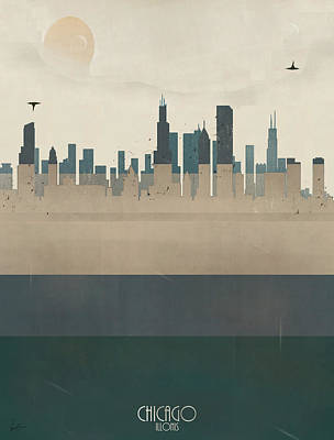 Colourfull Painting - Chicago Illinois Skyline by Bri B