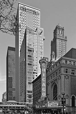 Famous Buildings Photograph - Chicago Theatre - This Theater Exudes Class by Christine Till