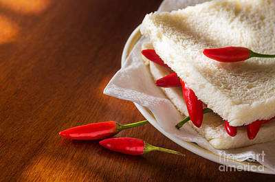 Chili Pepper Sandwich Print by Carlos Caetano