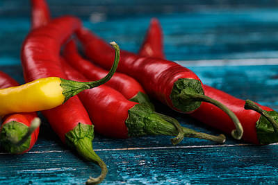 Chilli Photograph - Chili Peppers by Nailia Schwarz