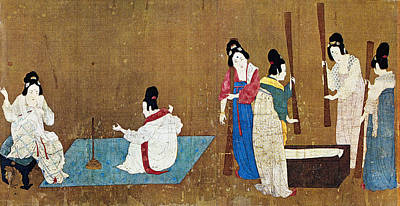 Fine Thread Painting - China Silk Manufacture by Granger