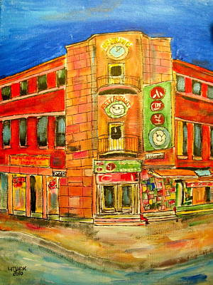 Litvack Painting - Chinatown Corners by Michael Litvack