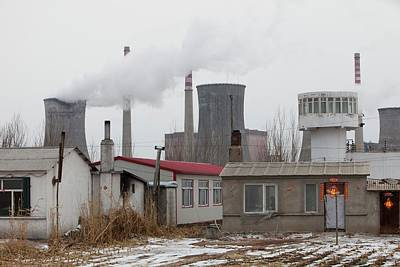 Chinese Coal Fired Power Station Print by Ashley Cooper