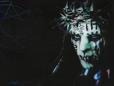 Pentagram Art Painting - Slipknot - '#1' by Christian Chapman Art