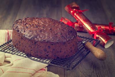 Cracker Photograph - Christmas Cake by Amanda And Christopher Elwell
