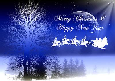 Christmas Digital Art - Christmas Card 3 by Mark Ashkenazi