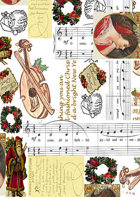 Madonna Digital Art - Christmas Collage by Sandy McIntire