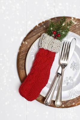 Christmas Cutlery Print by Amanda Elwell